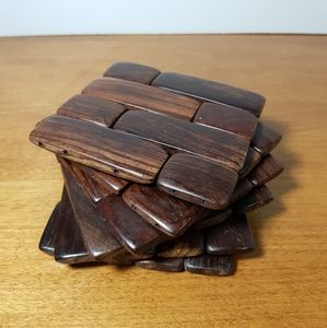 6pc Wooden Coasters